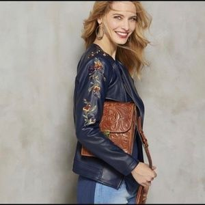 HSN G by Giuliana Ultra Luxe Embroidered Moto Jack